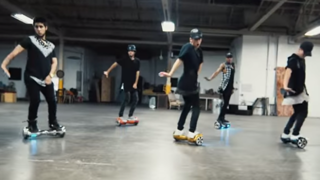 This Segway dance is so mesmerizing you might listen to 'What Do You Mean' all the way through.