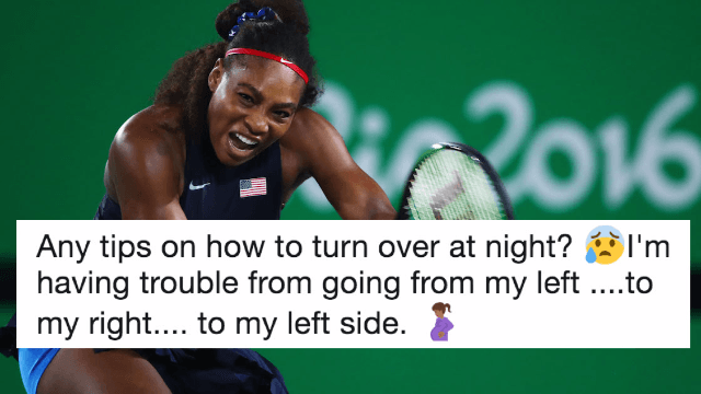 Serena Williams asked Twitter for pregnancy advice and the internet totally delivered.