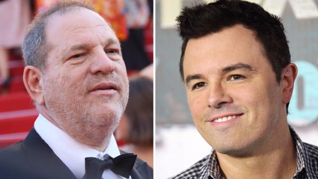 Seth MacFarlane's Harvey Weinstein joke from the 2013 Oscars is horrifying in retrospect.
