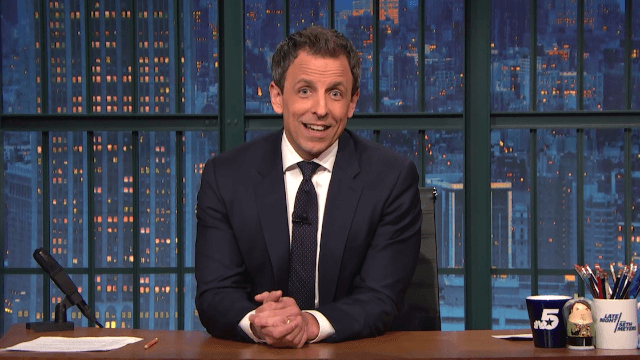 Seth Meyers tells the adorable story of the birth of his son, reveals his name (not Stefon, sadly).