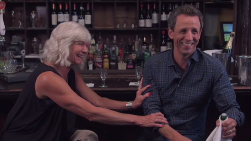 Seth Meyers went day-drinking with his totally chill mom, and it was really cute.