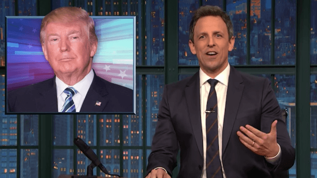 Seth Meyers calls Donald Trump's tweets 'ramblings of an unhinged narcissist.'