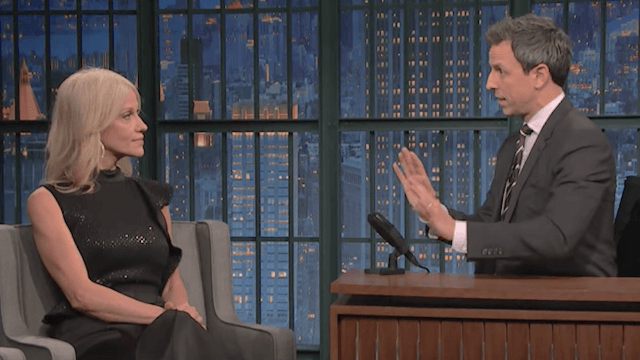 Seth Meyers had top Trump advisor Kellyanne Conway on his show. It did not go well for her.