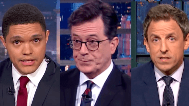Stephen Colbert, Trevor Noah, and Seth Meyers went live to deconstruct the first presidential debate.