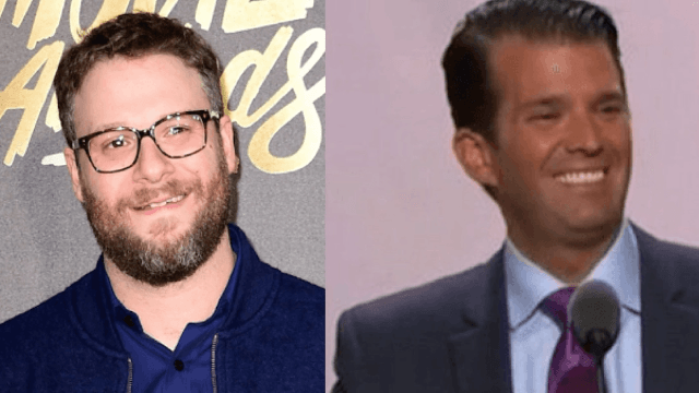 Seth Rogen slides into Donald Trump Jr.'s DMs to try and save humanity.