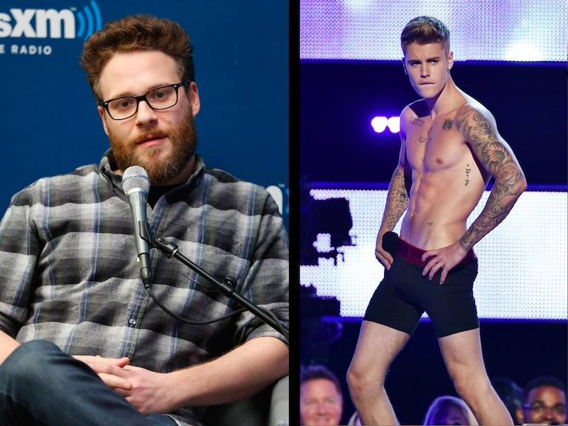 Seth Rogen is being harassed by Justin Bieber into being part of his Roast.