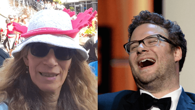 Seth Rogen's mom tweeted about her sex life and her son is mortified.