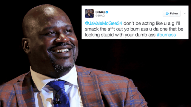 Shaq got into an insane Twitter fight with an NBA player he loves to make fun of.