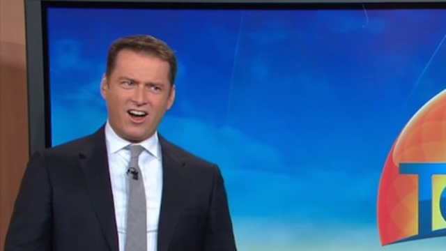 News anchors are terrified by their own segment on sharks.