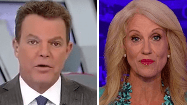 Fox News host Shep Smith delightfully mocks Kellyanne Conway over her 'microwave' comments.