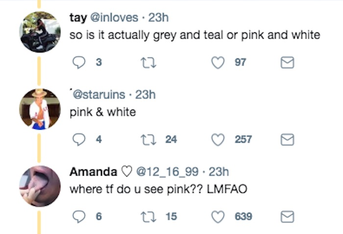 The internet is freaking out over a sneaker that is either gray or pink. Deja vu.