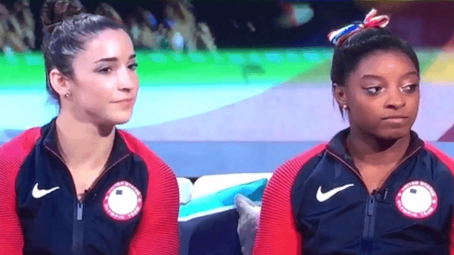 Simone Biles' face when Bob Costas said she wasn't famous before Rio says it all.