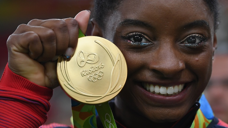 Simone Biles Snapchatted her hilarious quest to save her gold medal during a fire drill.