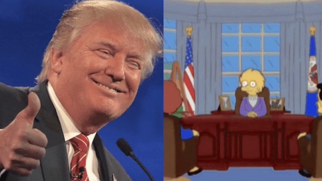 'The Simpsons' predicted a Donald Trump presidency in 2000.