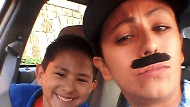 Single mom busts out the fake mustache so her son can have 'Donuts with Dad.'