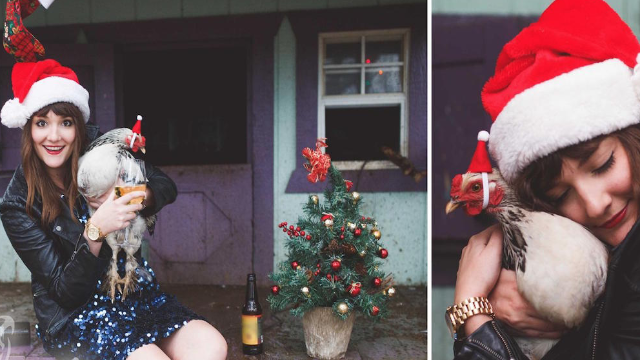 Single lady's hilarious Christmas cards will make you feel less lonely in your singledom.