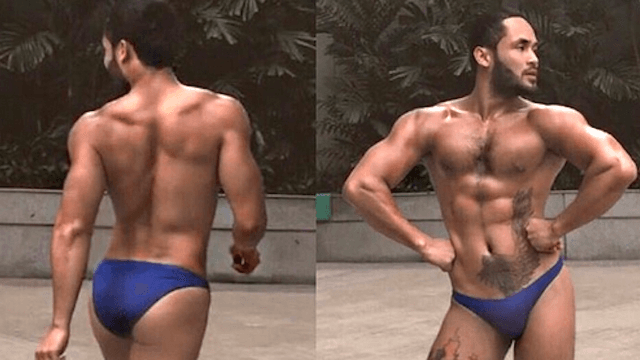 The internet is obsessed with this muscle-bound, stiletto-wearing 'King of the Catwalk.'
