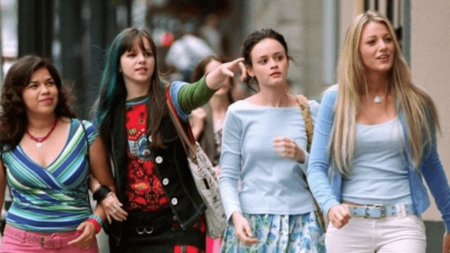The 'Sisterhood of the Traveling Pants' reunited to pick America Ferrera's nose.