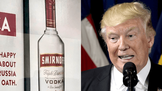 Smirnoff trolls Trump with savage billboard ad. As if you needed another reason to love vodka.
