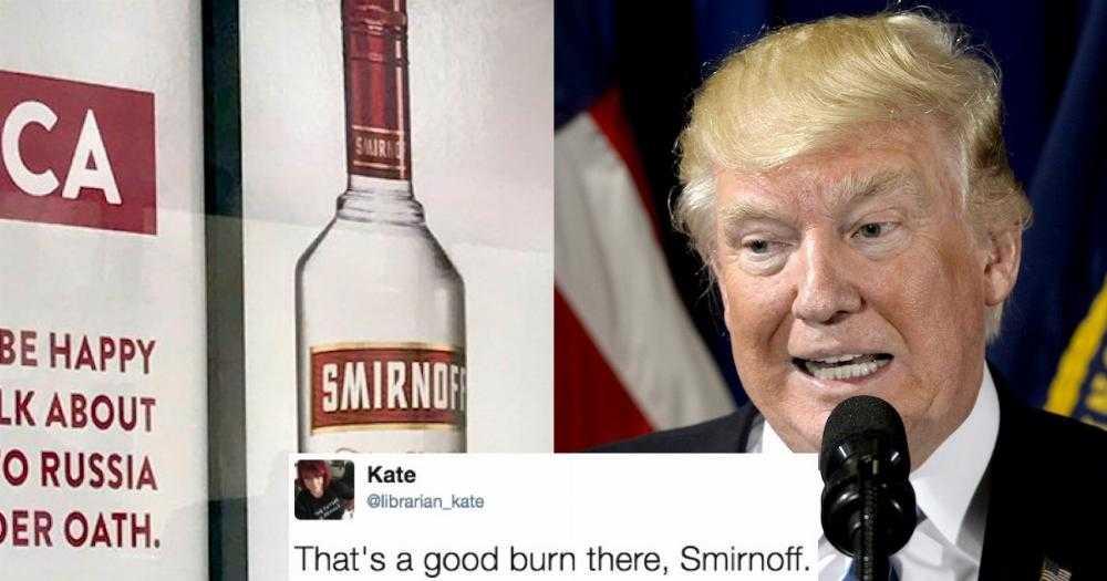 Smirnoff Trolls Trump With Savage Billboard Ad As If You