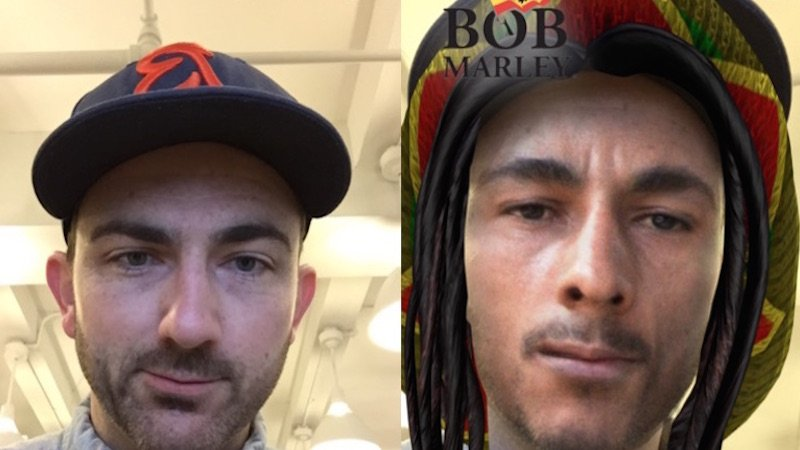 Snapchat pisses off normally mellow stoners with offensive Bob Marley 4/20 filter.