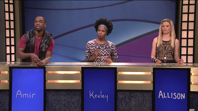 Elizabeth Banks finally gets a right answer (and a Cosby burn) on SNL's 'Black Jeopardy!'