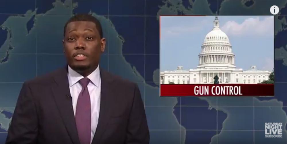 SNL blasts 'snowflake' gun owners on Weekend Update. Twitter has lots of feelings.