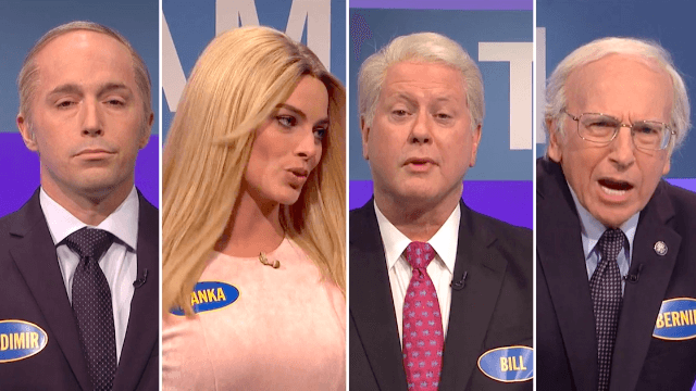 'SNL' pits the political teams of Clinton and Trump against each other on 'Family Feud.'