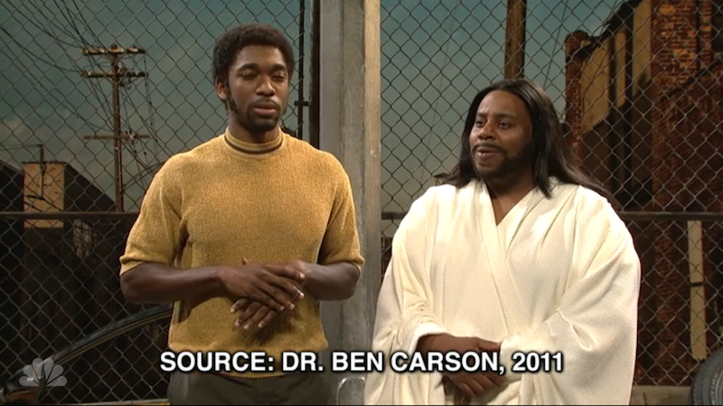 Young Ben Carson knifes Black Jesus, hammers his mom on 'SNL.'
