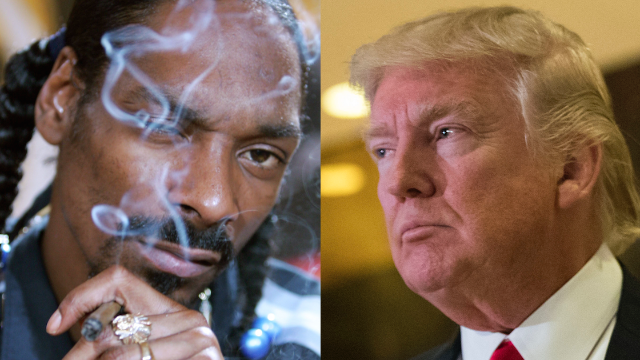 Snoop Dogg depicts Trump's dead body on his new album cover. Twitter is at war.