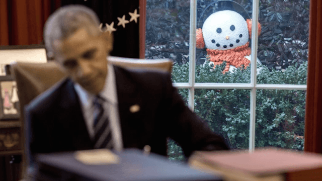 This snowman prank on Obama is the last good thing that'll happen in the White House for a while.