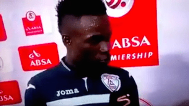 Soccer player thanks both wife and girlfriend in post-game interview, and we can't stop cringing.