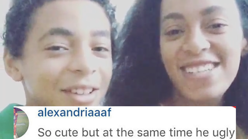 Someone insulted Solange's son online, and she responded with her momma claws out.