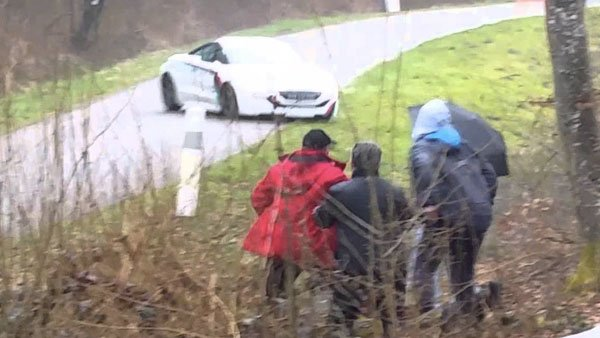 Some car race spectators witnessed an epic crash and narrowly escaped death.