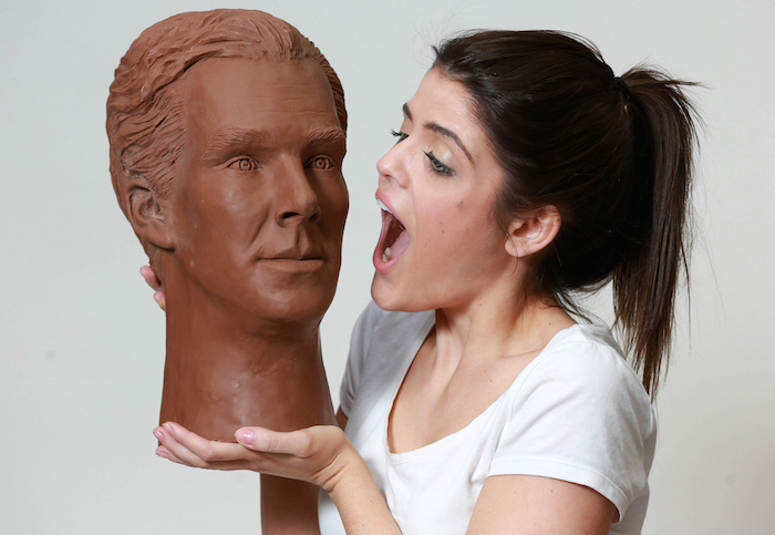 Somebody made a life-sized Benedict Cumberbatch out of Chocolate. Meet Chocobatch.