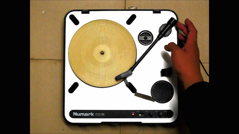 Somebody turned a tortilla into a working record and it plays the perfect song.