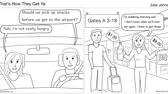 SomeComics: Airport Snacks by Julia Johns