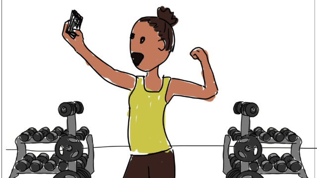 """SomeComics: """"Me at the Gym"""" by Julia Johns"""