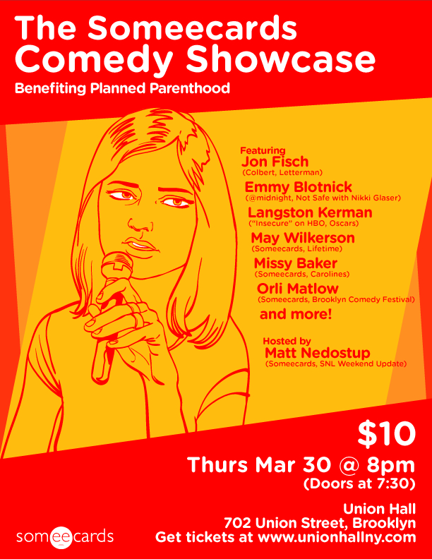 Come to the Someecards Comedy Showcase!