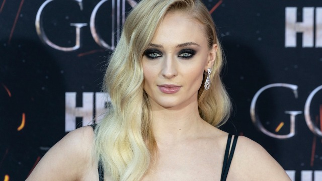 Sophie Turner posted photos from a protest and responded to a fan who asked why we can't have 'peace.'