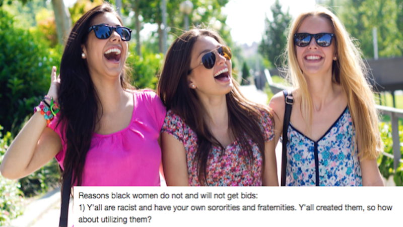 Sorority girls' viral rant on why they don't accept black pledges must be read to be believed.