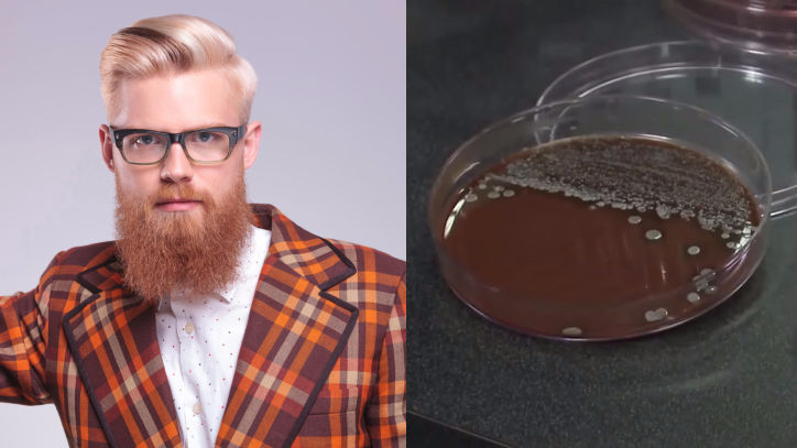 Normally jaded scientists stunned by levels of poop present in men's beards.