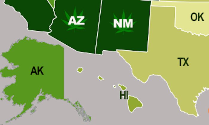 This map of the states that most love pot will fill you with homegrown pride.