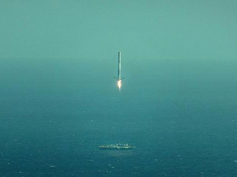 SpaceX attempts sci-fi rocket landing in the ocean, achieves sci-fi rocket near-miss in the ocean.