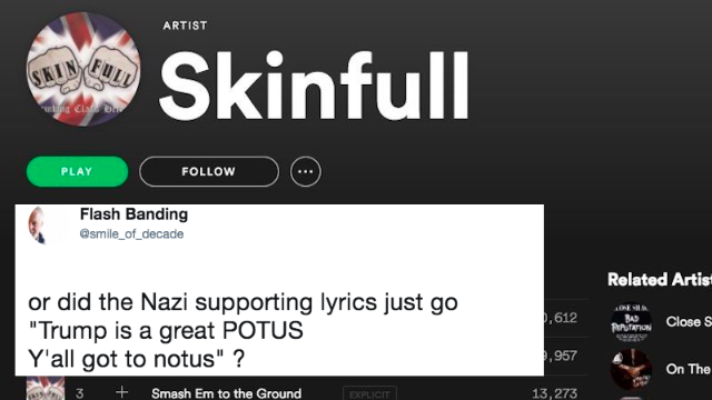 Spotify called out for hosting Nazi music on their site. They acted fast.
