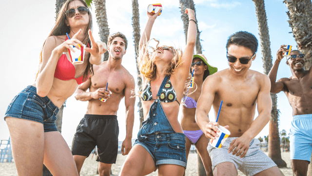 Clueless Americans on spring break chant 'build that wall!' while partying in Mexico.