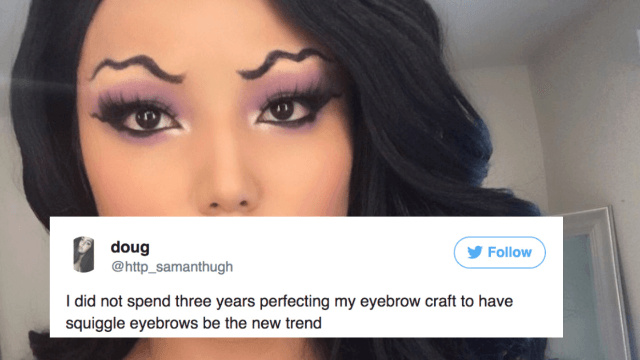 Squiggle Eyebrows Are The Weirdest New Makeup Trend & People Are Not Having It