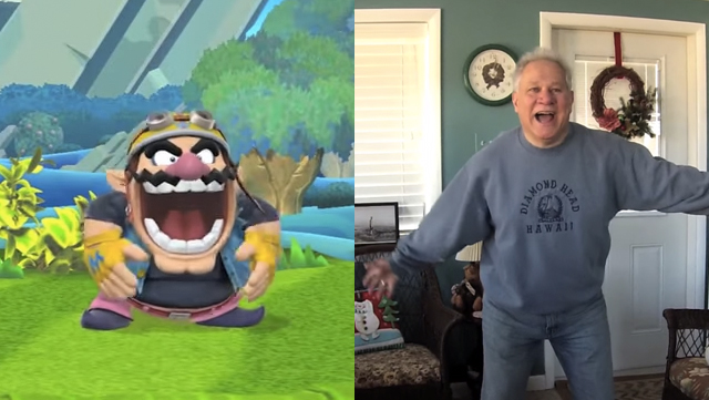 Some guy got his dad to reenact all the taunt moves from Super Smash Bros.
