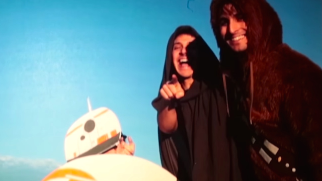 So-called 'friends' cruelly prank superfan into thinking he's seeing 'Star Wars' early.