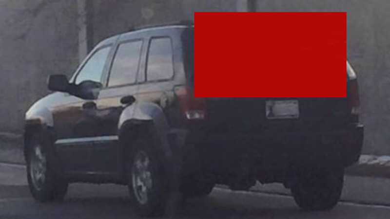 A Jeep is driving around with a big 'Star Wars' spoiler. And no, not the car kind of spoiler.